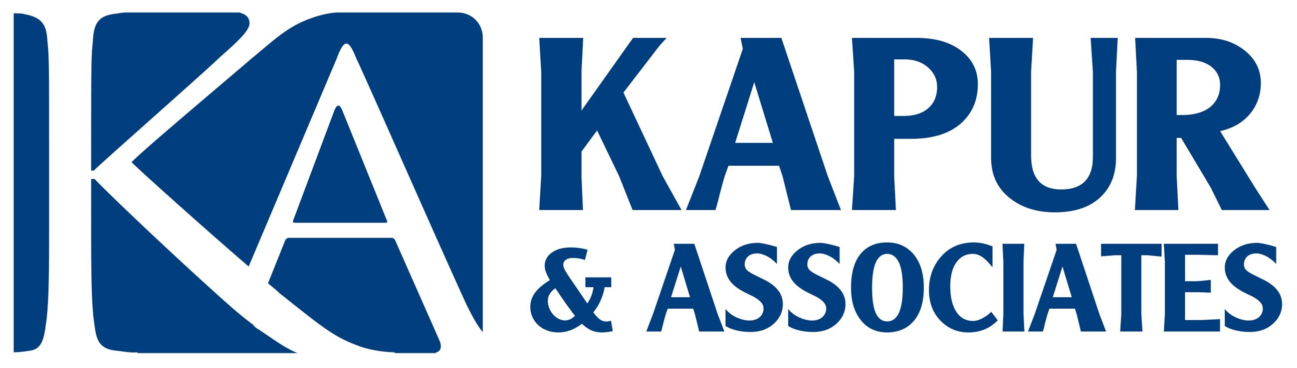 Kapur and Associates bold horizontal